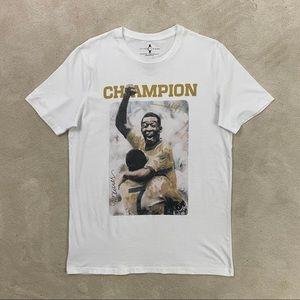Jack&Jones Mens Celebrity Icon Pele White T-shirt